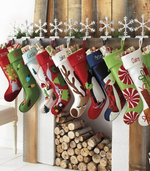 Christmas Stockings And Ideas To Use Them For Decor Digsdigs