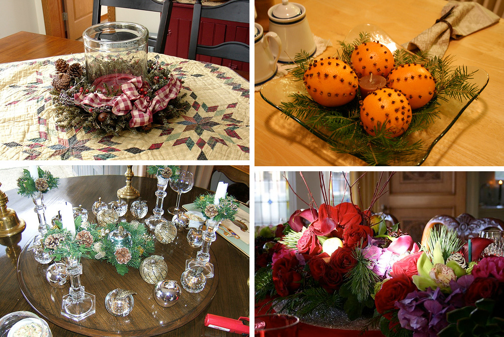 50 great easy christmas centerpiece ideas digsdigs for Easy to make christmas decorations at home