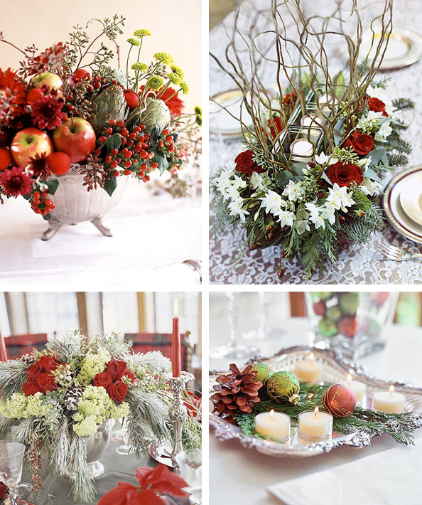 50 great easy christmas centerpiece ideas digsdigs for Table arrangements