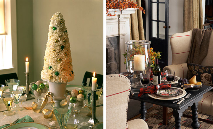 25 christmas table decorating ideas digsdigs - Mesas de navidad decoracion ...