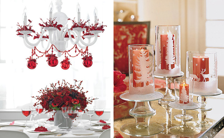 25 christmas table decorating ideas digsdigs for Home christmas decorations ideas