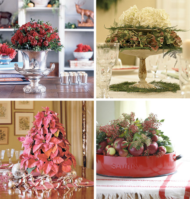 50 great easy christmas centerpiece ideas digsdigs - Flowers for table decorations ...