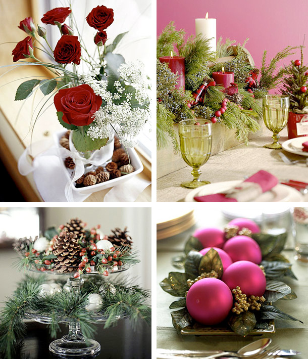 christmas flowers table decoration
