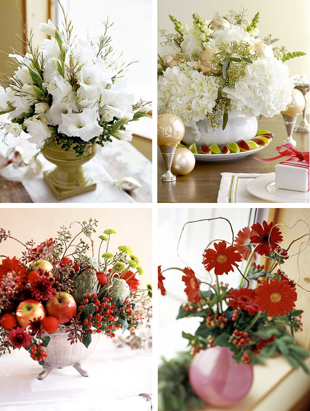 50 great easy christmas centerpiece ideas digsdigs Simple flower decoration ideas