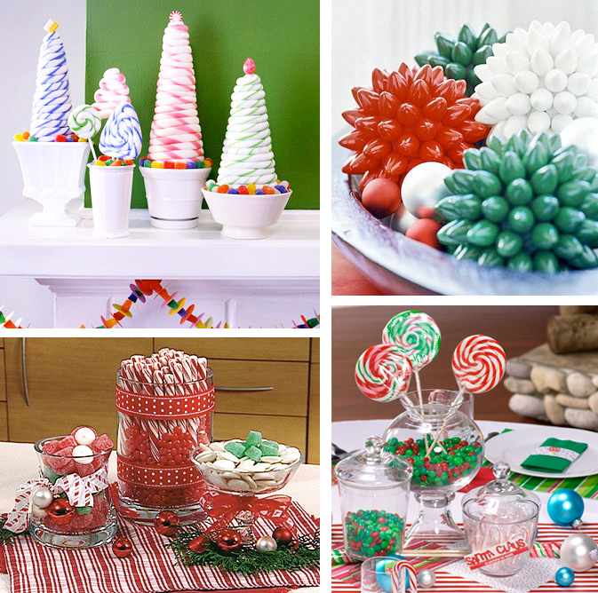 50 great easy christmas centerpiece ideas digsdigs christmas candy table centerpieces solutioingenieria Images