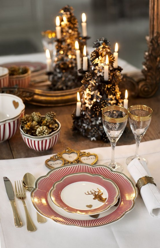 35 christmas table settings you gonna love digsdigs - Pinterest deco table ...