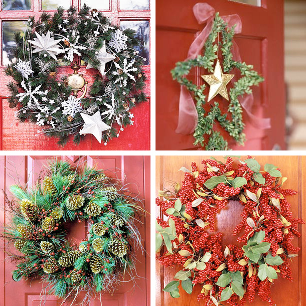 37 Easy To Make Christmas Decorations Digsdigs: simple christmas wreaths