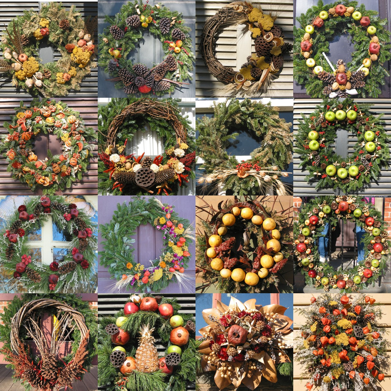 Holiday wreaths door decor minimalist home dezine