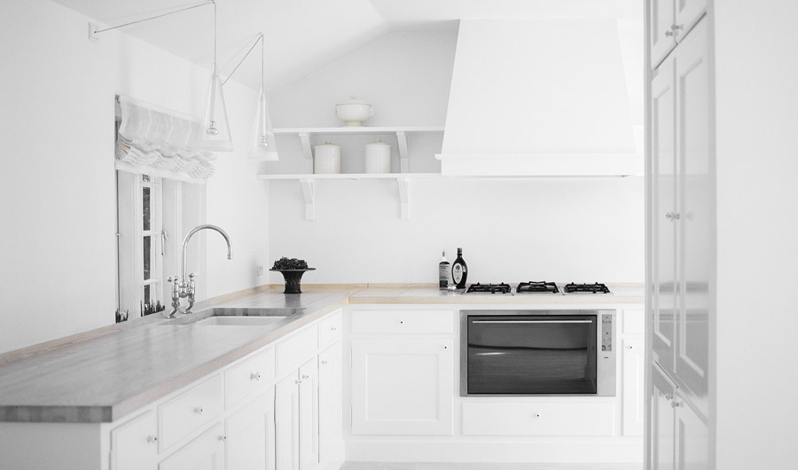 Classic Framed White Kitchen With Ash