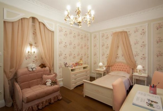 10 classic kids bedroom design ideas digsdigs for Cuartos para ninas elegantes