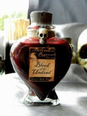 pour your wine intoa  scary bottle and add a bold sticker and a skull to make it look very spooky