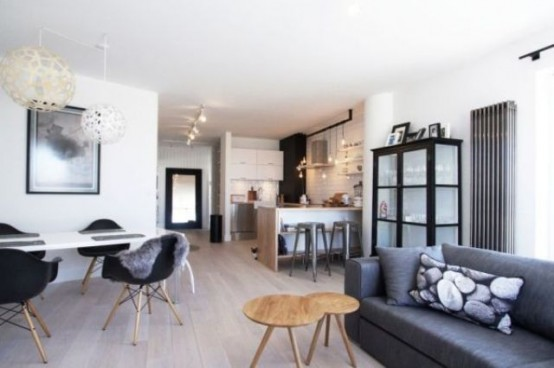 Classically Scandinavian Apartment In Black, Grey And White