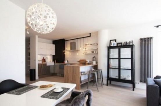 Classically Scandinavian Apartment In Black Grey And White