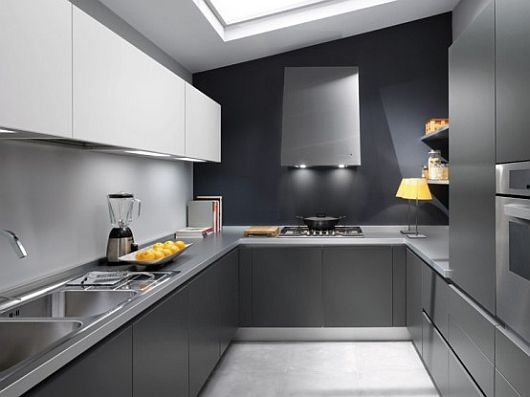 Clean Grey Kitchen