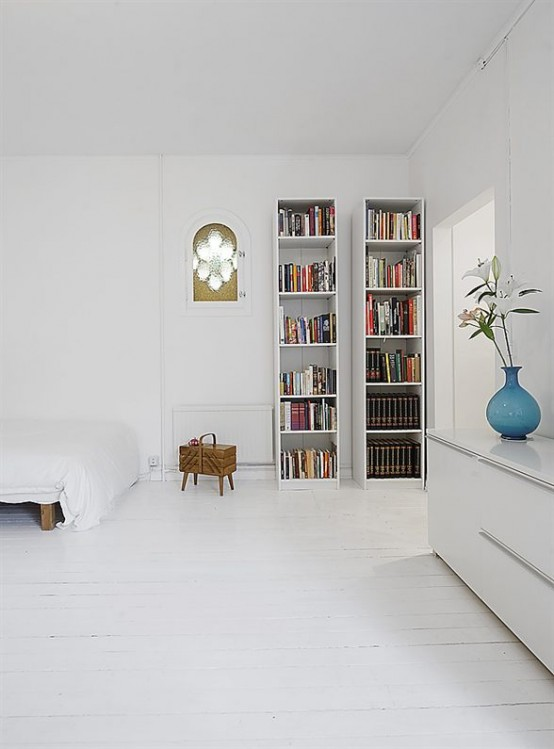 Clean White Small Apartment Interior Design with Minimalism in Mind - DigsDigs