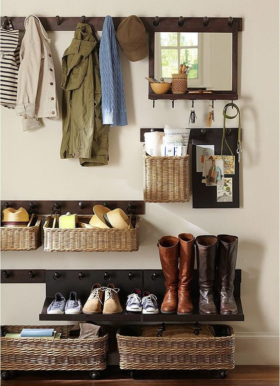 Picture Of clever examples to organize your entryway easily  2