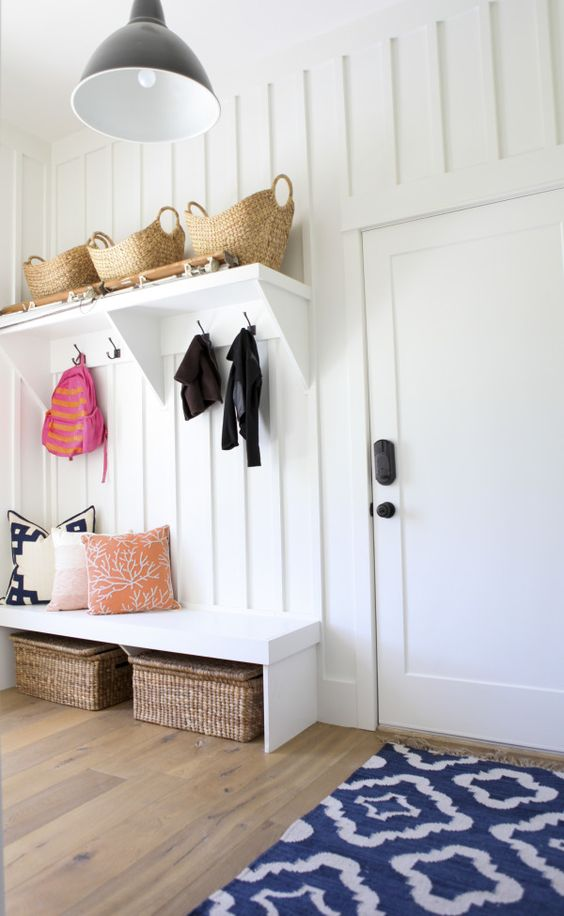 Picture Of clever examples to organize your entryway easily  31