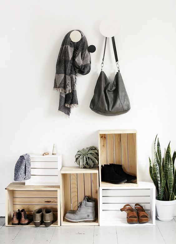 Picture Of clever examples to organize your entryway easily  4