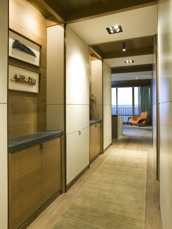 This is a great example of how smoothly could built-ins blend with your interior. That is probably the best solution for apartments.