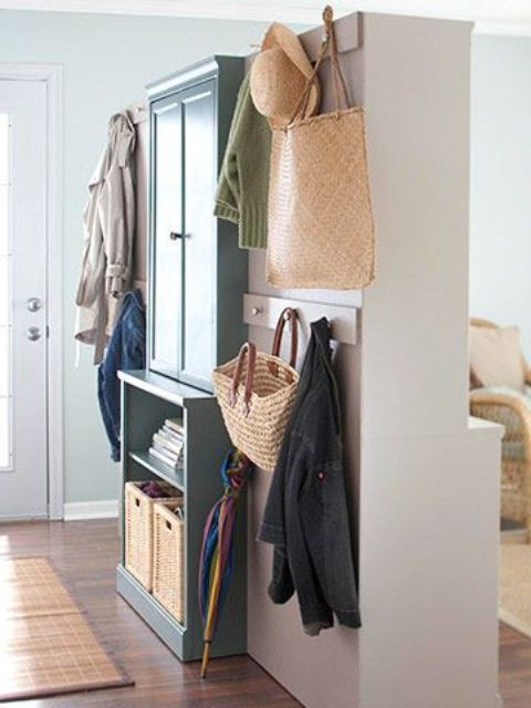 75 clever hallway storage ideas digsdigs Living room shoe storage ideas