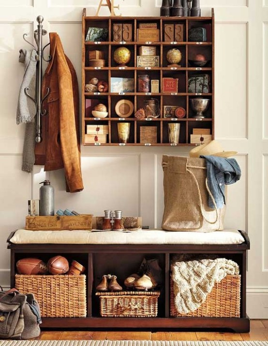 Clever Hallway Storage Ideas Hallways Are Great Areas To Display Things Here Is A Simple But Smart Solution