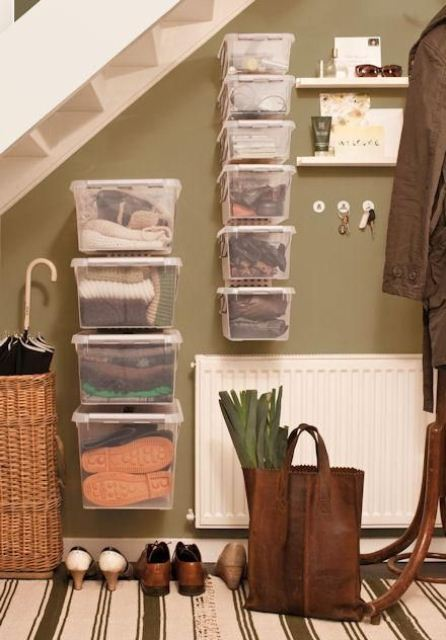 Storage under stairs should also be smart.