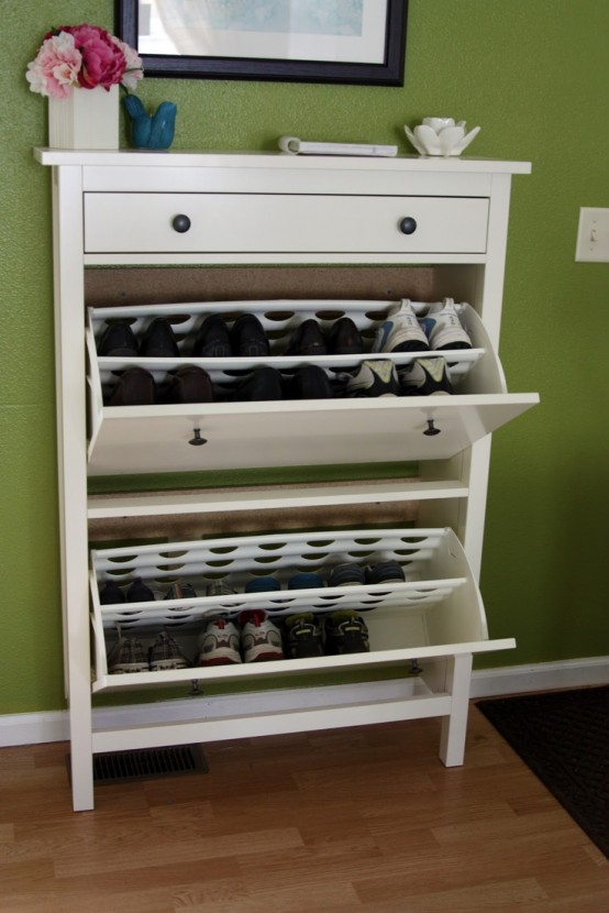Clever Hallway Storage Ideas DigsDigs - Shoe cabinets design ideas