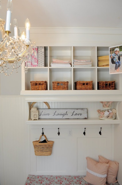 Hanging units is always a great solution for small spaces because it won't occupy any floor space.