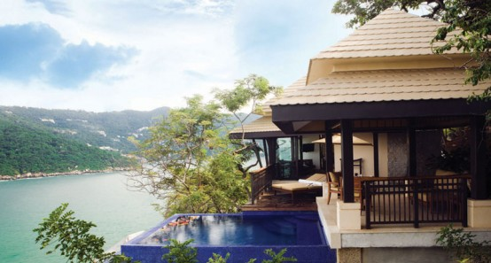 Cliff-Side Villa in Distinctively Asian Flavor with a Private Edge-Pool
