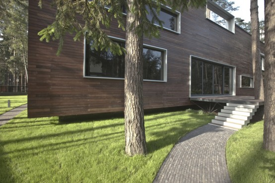 Clinker Brick With Wood House