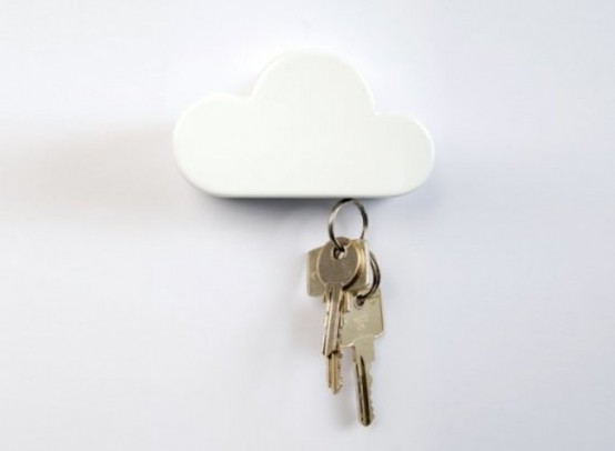 A Key Ring In The Form Of A Cloud