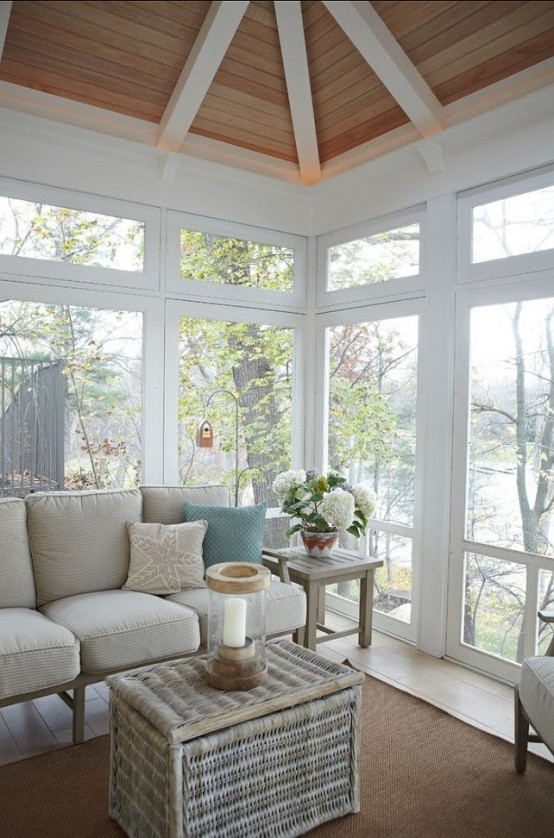 25 Coastal And Beach-Inspired Sunroom Design Ideas - Digsdigs