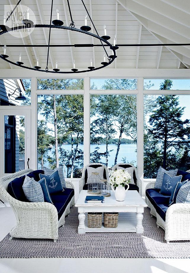 25 coastal and beach inspired sunroom design ideas digsdigs. Black Bedroom Furniture Sets. Home Design Ideas