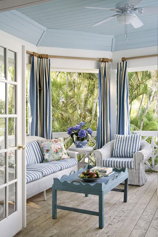 Coastal Beach Inspired Sunroom Design Ideas
