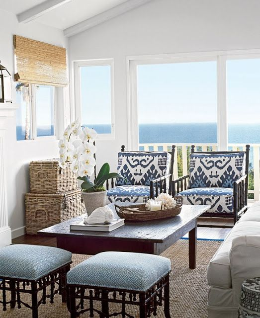 23 Beach Coastal Decor Ideas Inspired Home Decor: 25 Coastal And Beach-Inspired Sunroom Design Ideas