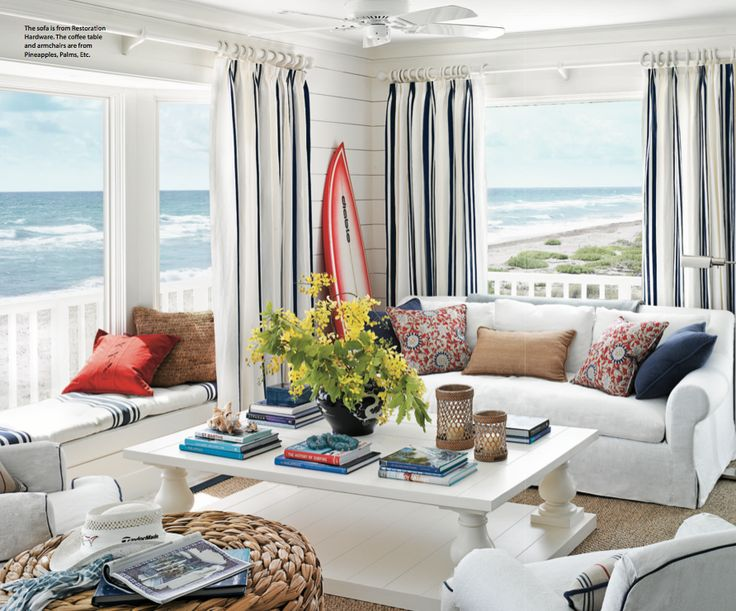 Coastal And Beach Inspired Sunroom Design Ideas