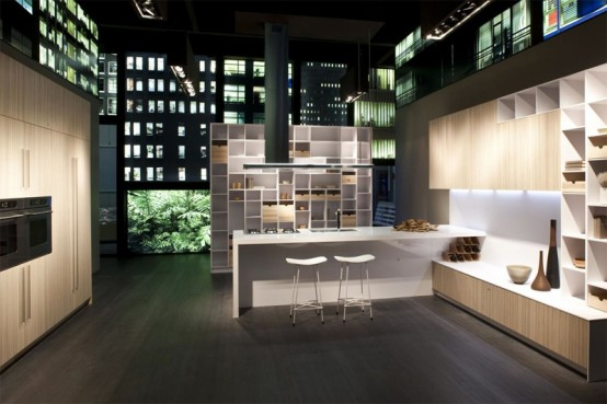 Natural and Colorful Kitchens That Overlap With Living Area – CODE by Snaidero