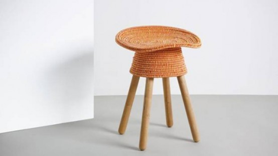 Coiled Stool With A Comfy Tractor Seat