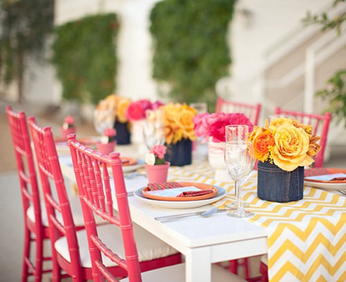 Coloful Outdoor Dining Area