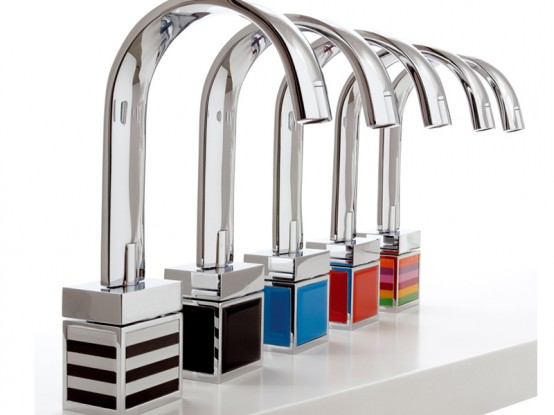Aesthetic Bathroom Taps with Colored Bottom – Bio Shock from Fima