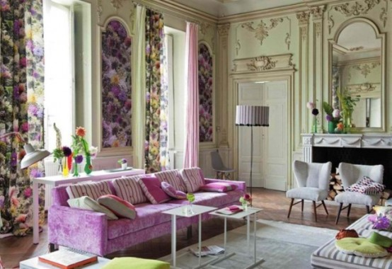 Colorful And Airy Spring Living Room Designs