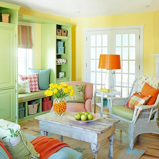 Home Design Ideas Colors: 33 Colorful And Airy Spring Living Room Designs