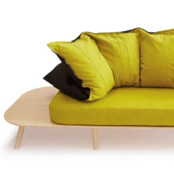 Colorful And Comfortable Transformable Furniture For Seating And Sleeping