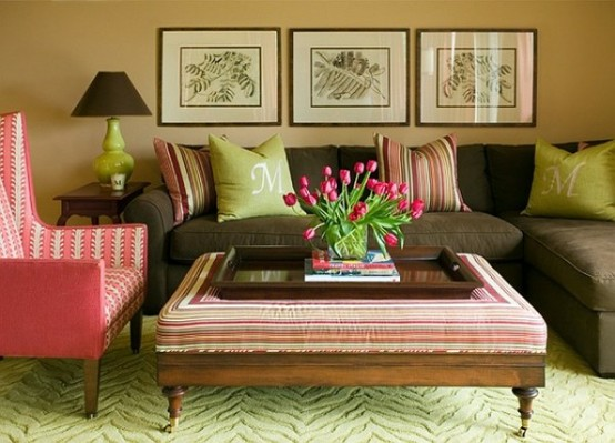 Colorful And Comfy Living Room
