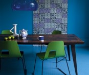Colorful And Moody Dining Room