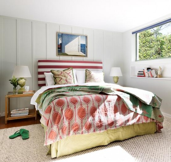 Colorful Beach Retreat With Mid Century Acessories