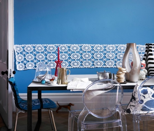 Colorful Blue Dining Area