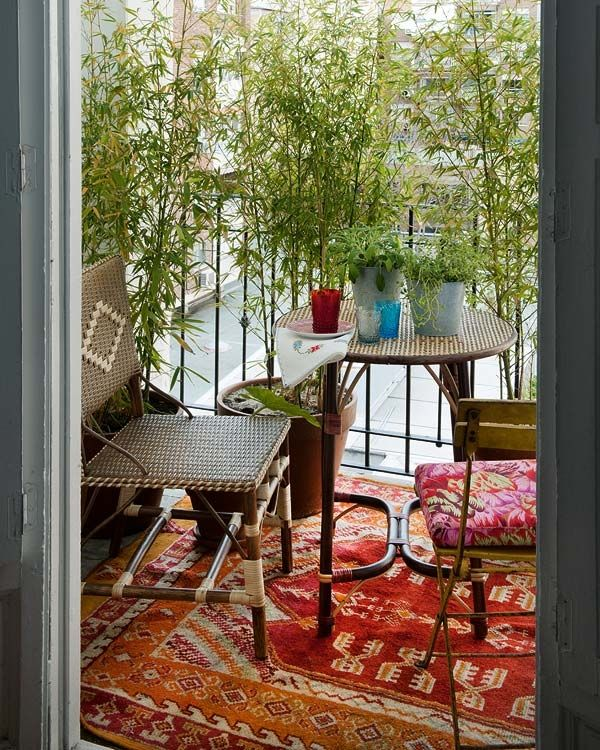 24 Colorful Boho Chic Balcony Décor Ideas