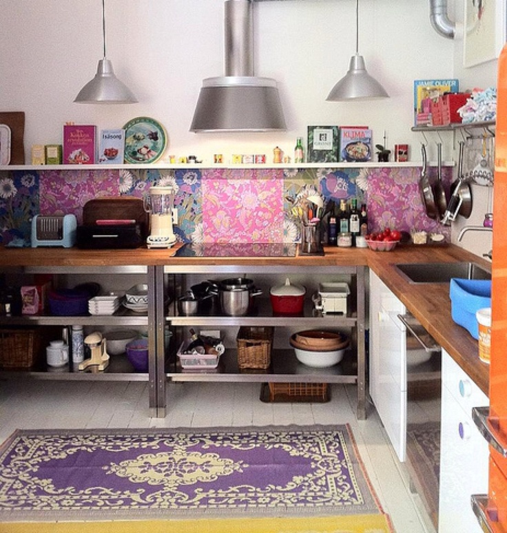 18 Beautiful Bright Kitchen Design Ideas To Serve You As: 49 Colorful Boho Chic Kitchen Designs