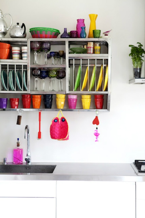bright and colorful porcelain and tableware is great for any kitchen to add color